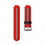 Ремешок сменный Garmin Forerunner 735XT, 230, 235, 630 силикон, черно-красный (010-11251-0N)