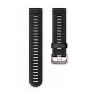 Ремешок сменный Garmin Forerunner 935, 945 силикон, черный серебр. пряжка OEM (010-11251-0Q)