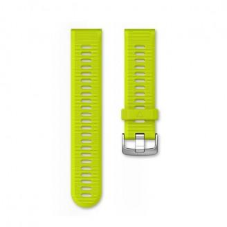 Ремешок сменный Garmin Forerunner 935, 945 силикон, желтый серебр. пряжка OEM (010-11251-0R)