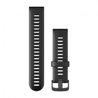 Ремешок сменный Garmin Forerunner 935, 945 силикон, черный черная пряжка OEM (010-11251-2C)