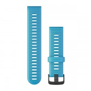 Ремешок сменный Garmin Forerunner 935, 945 силикон, голубой черная пряжка OEM (010-11251-2D)