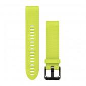 Ремешок сменный Garmin QuickFit 20 силикон, желтый с черной пряжкой (010-12491-13)