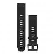 Ремешок сменный Garmin QuickFit 22 силикон, черный с черной пряжкой OEM (010-12496-00)