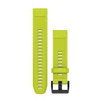 Ремешок сменный Garmin QuickFit 22 силикон, желтый с черной пряжкой (010-12496-02)