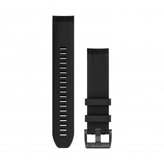 Ремешок сменный Garmin MARQ силикон, черный с черной пряжкой OEM  (010-12738-05)