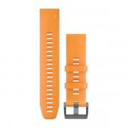 Ремешок сменный Garmin QuickFit 22 оранжевый, серебр. пряжка (010-12740-14)