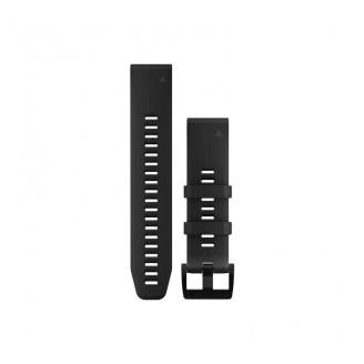 Ремешок сменный Garmin QuickFit 22 силикон, черный с черной пряжкой OEM (010-12740-21)