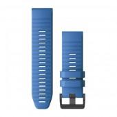 Ремешок сменный Garmin QuickFit 26 силикон, голубой с черной пряжкой (010-12741-12)