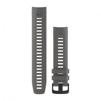 Ремешок сменный Garmin INSTINCT силикон, серый (Graphite) OEM (010-12854-00)