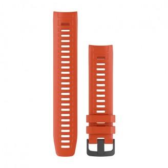 Ремешок сменный Garmin INSTINCT силикон, красный (Flame Red) OEM (010-12854-02)