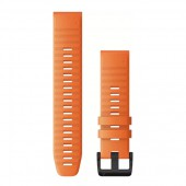 Ремешок сменный Garmin QuickFit 22 оранжевый, черная пряжка OEM (010-12863-01)