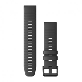 Ремешок сменный Garmin QuickFit 22 силикон, серый с черной пряжкой OEM (010-12863-22)