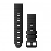 Ремешок сменный Garmin QuickFit 26 силикон, черный с черной пряжкой (010-12864-00)