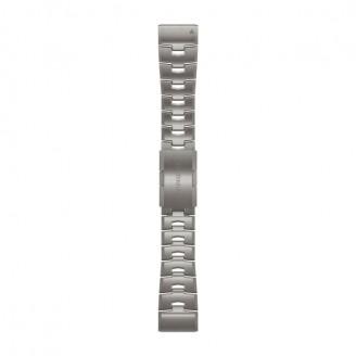 Garmin Браслет сменный Garmin QuickFit 26 титан, серебристый OEM (010-12864-08)