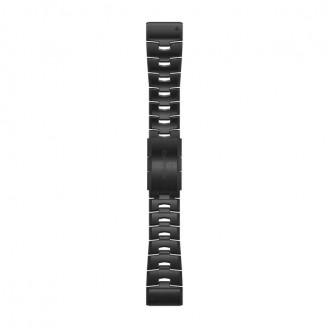 Браслет сменный Garmin QuickFit 26 титан, темно-серый DLC (010-12864-09)
