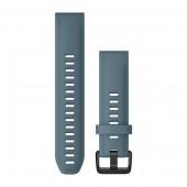 Ремешок сменный Garmin QuickFit 20 силикон, темно-синий с черной пряжкой (010-12870-00)