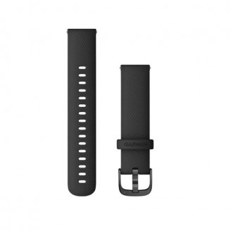 Ремешок сменный Garmin QuickRelease 18 силикон, черный с черной пряжкой OEM (010-12932-01)