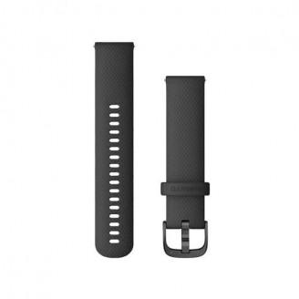 Ремешок сменный Garmin QuickRelease 20 силикон, черный с черной пряжкой OEM (010-12932-11)