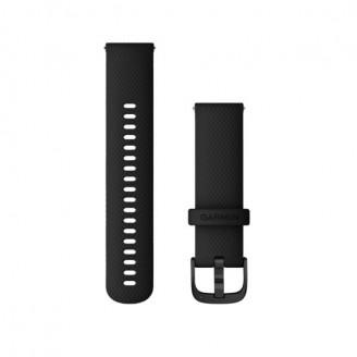 Ремешок сменный Garmin QuickRelease 22 силикон, черный с черной пряжкой OEM (010-12932-21)