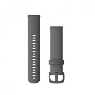 Ремешок сменный Garmin QuickRelease 20 силикон, темно-серый OEM (010-13021-00)