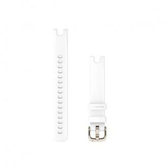 Ремешок сменный Garmin Lily 14мм силикон, белый с пряжкой золото (010-13068-00)