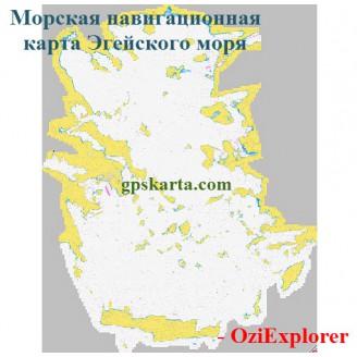 Морская карта Эгейского моря