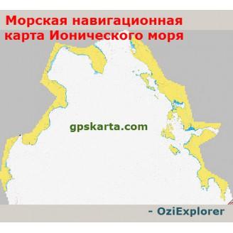 Морская карта Ионического моря