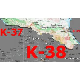 Квадрат K-37/ K-38/ K-39  1:25000 (250-метровки)