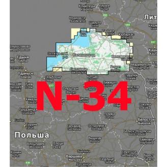 Квадрат N-34 1:25000 (250-метровки)