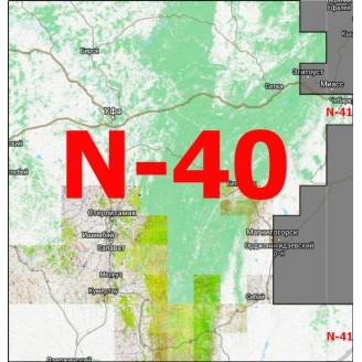 Квадрат N-40/N-41 Масштаб 1:25000 (250/500-метровки, километровки)
