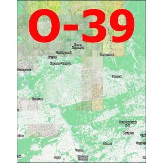 Квадрат  O-39 1:25000 (250-метровки)