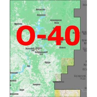 Квадрат О-40 Масштаб 1:50000 (500-метровки)