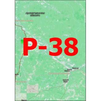 Квадрат Р-38 Масштаб 1:50000 (500-метровки)