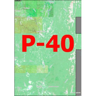 Квадрат Р-40 Масштаб 1:25000 (250/500-метровки, километровки)