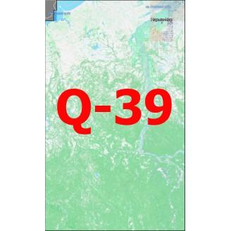 Квадрат Q-39 Масштаб 1:25000 (500-метровки)