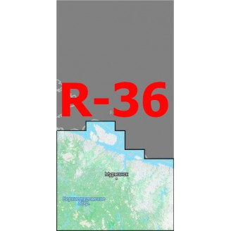 Квадрат R-36 Масштаб 1:50000 (500-метровки)