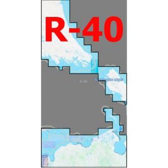 Квадрат R-40 Масштаб 1:25000 (250-метровки)