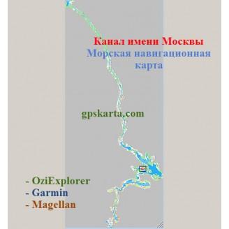 Карта глубин Канала имени Москвы (КиМ)