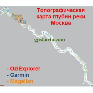 Карта глубин Москвы-реки