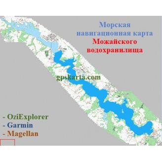 Карта глубин - Можайское водохранилище