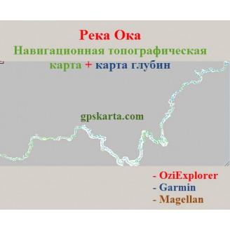 Карта глубин реки Оки