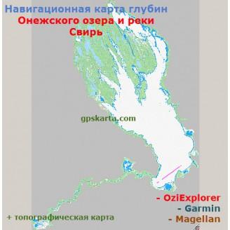 Онежское озеро и река Свирь