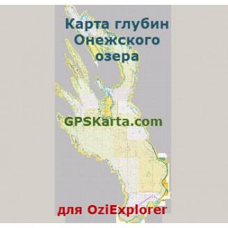 Онежское озеро карта глубин ГУНиО РФ
