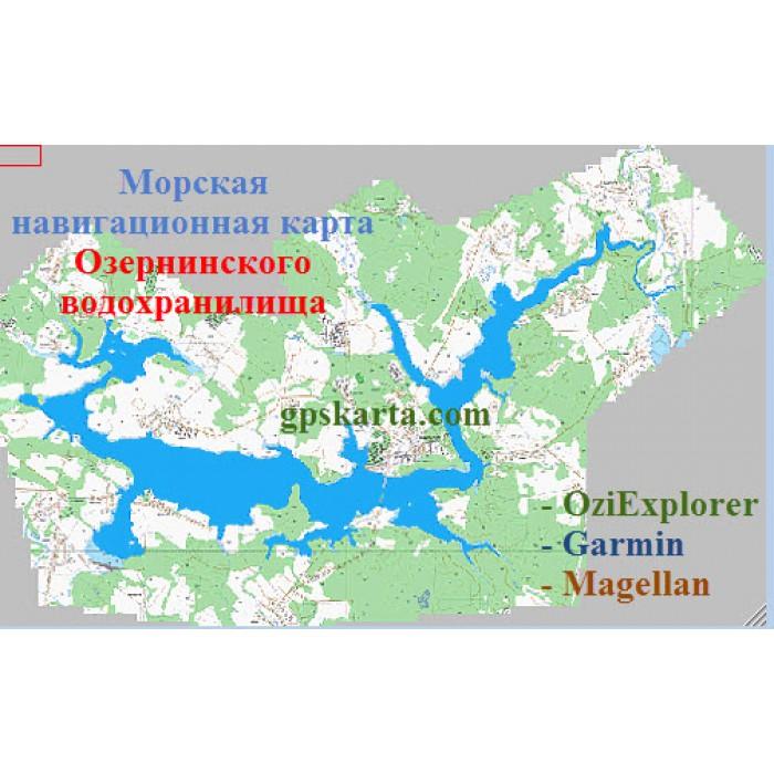 карта глубин озернинского водохранилища