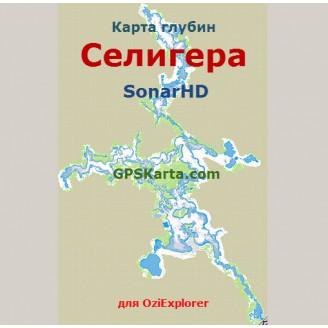 Карта глубин Селигера SonarHD