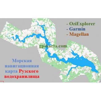 Карта глубин - Рузское водохранилище