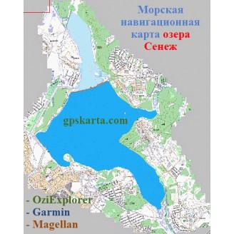 Карта глубин - Сенежское озеро
