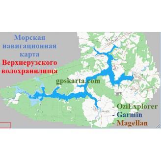 Карта глубин - Верхнерузское водохранилище