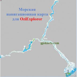 Карта глубин для OziExplorer - Саратов-Астрахань/Волгоград-Азов