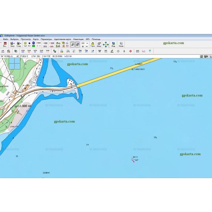 карта глубин волги саратов